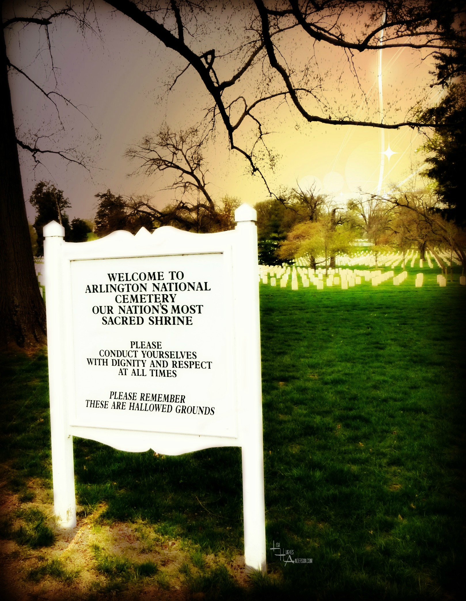 Arlington National Cemetery Sign
