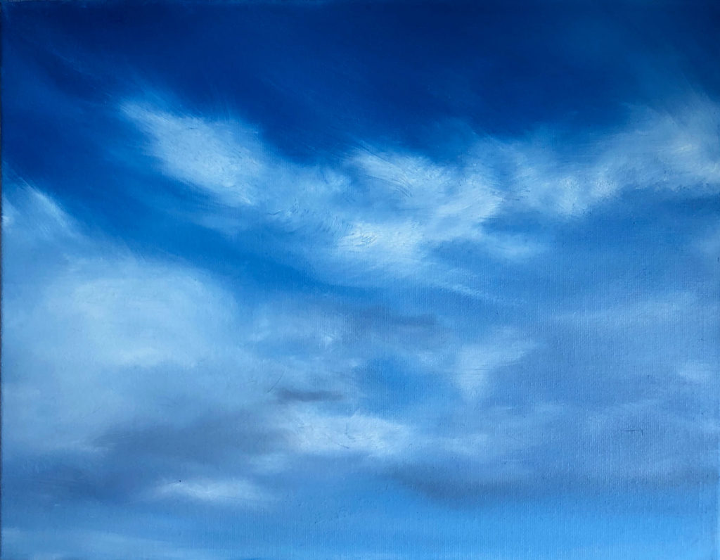 Cloud 2 Oil Painting by Lisa Hughes Anderson