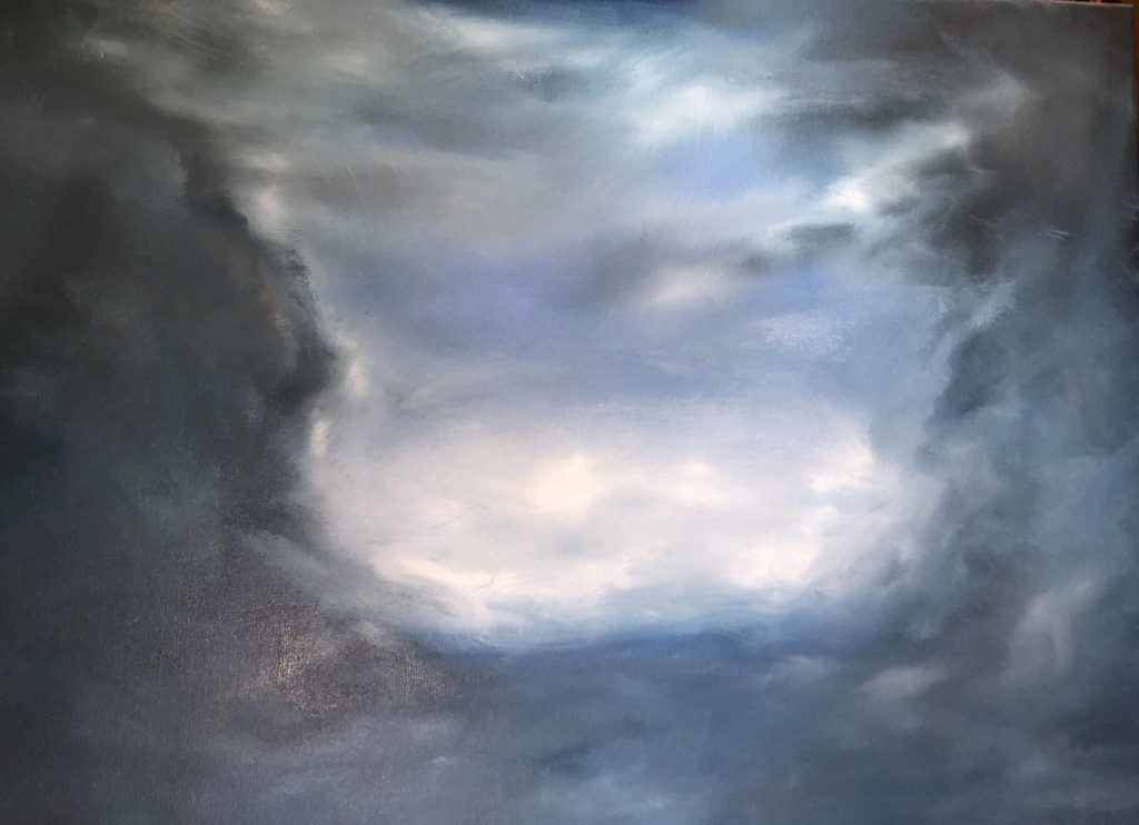 Cloud 3 Oil Painting by Lisa Hughes Anderson