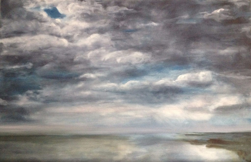 Cloud 4 Oil Painting by Lisa Hughes Anderson