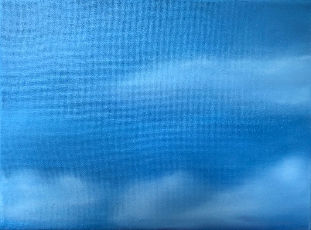 Cloud 5 Oil Painting by Lisa Hughes Anderson