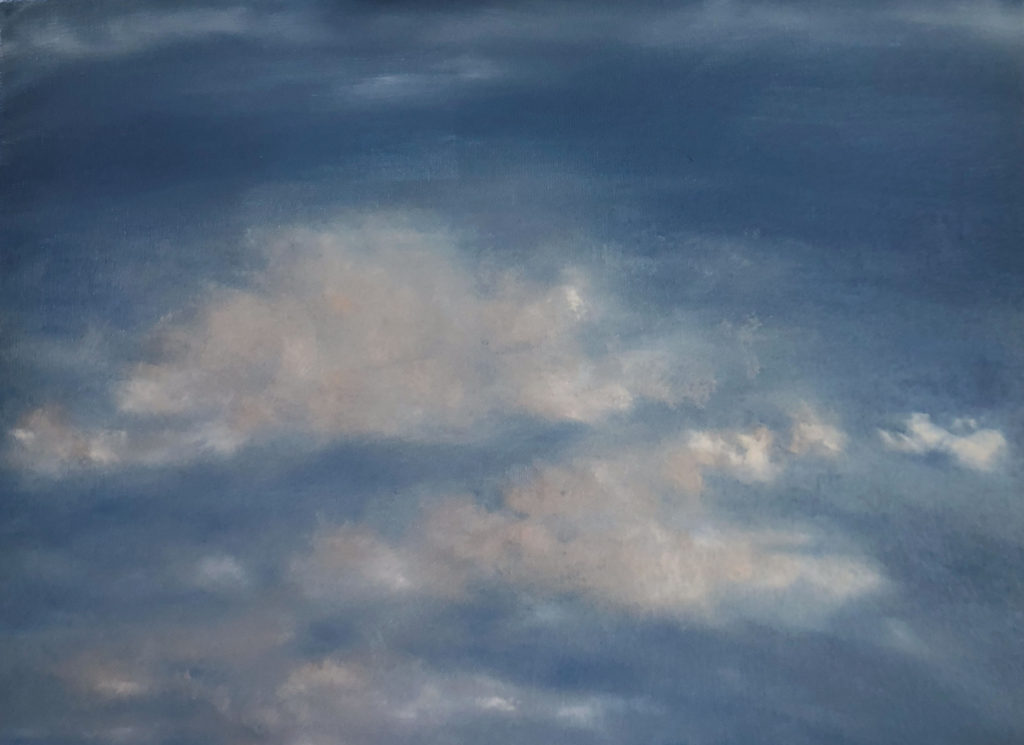Cloud 6 Oil Painting by Lisa Hughes Anderson