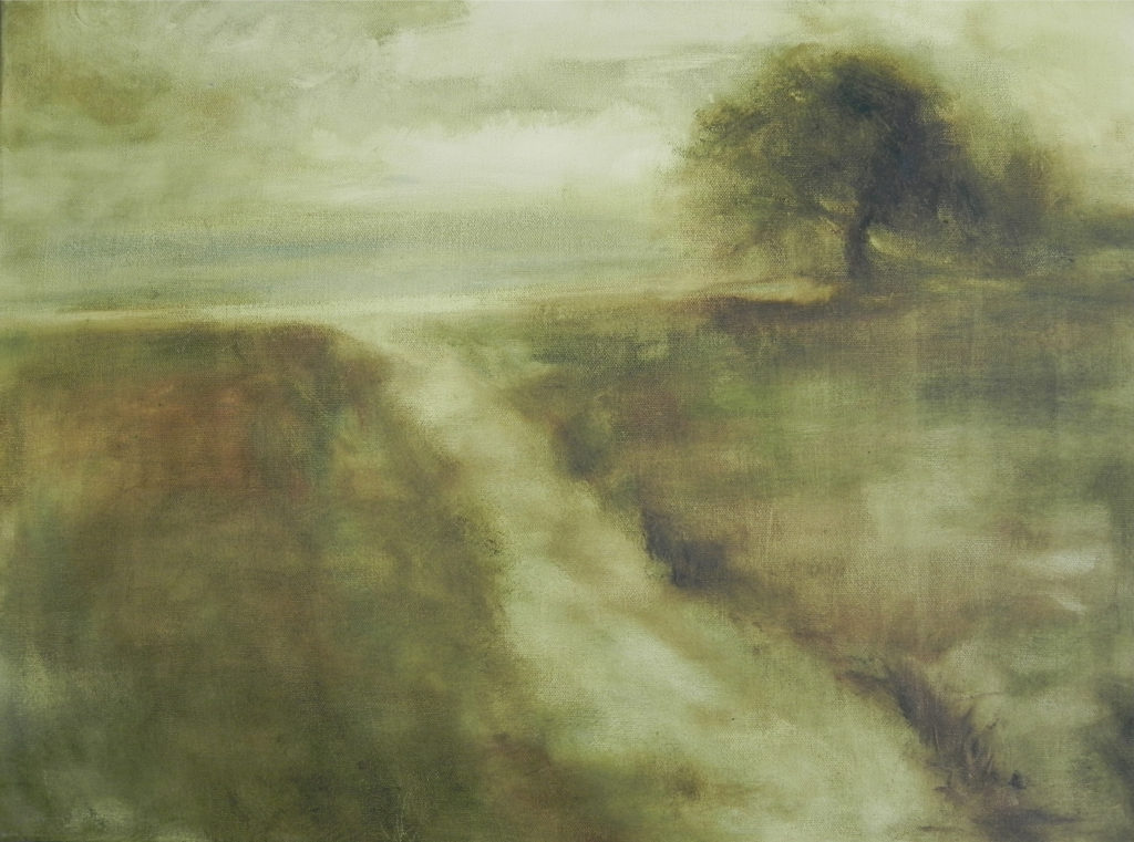 Disappearing Pathways Oil Painting by Lisa Hughes Anderson