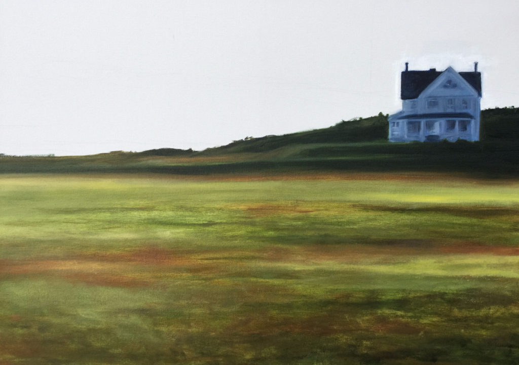 Fort Casey Oil Painting by Lisa Hughes Anderson