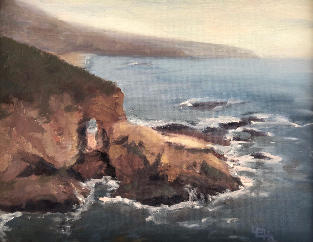 Laguna Beach Passages Oil Painting by Lisa Hughes Anderson