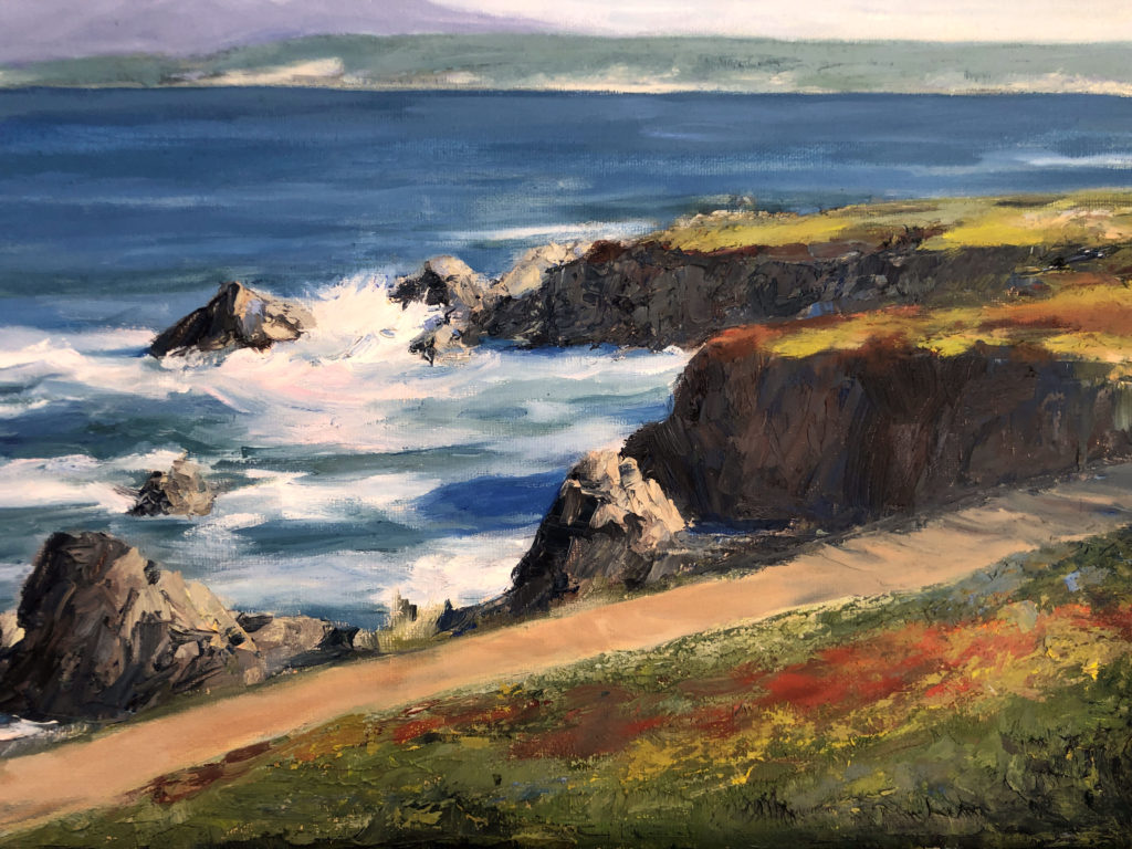 Pacific Grove Oil Painting by Lisa Hughes Anderson