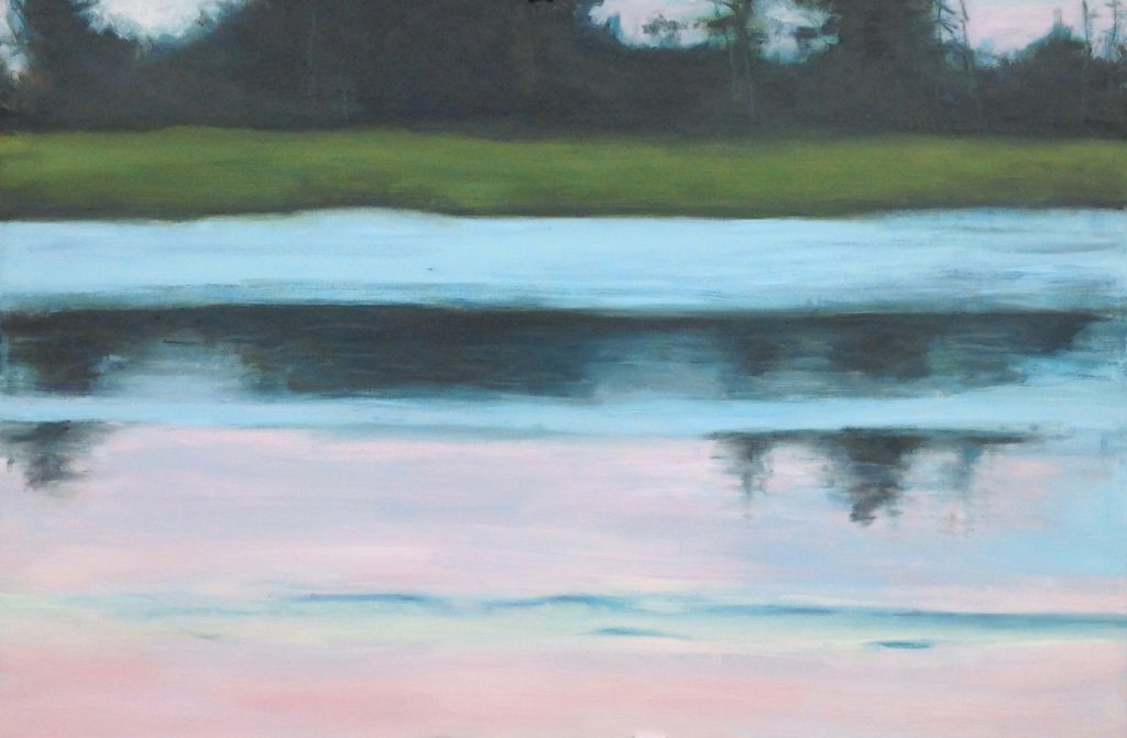 Summer 15 Reflection Oil Painting by Lisa Hughes Anderson